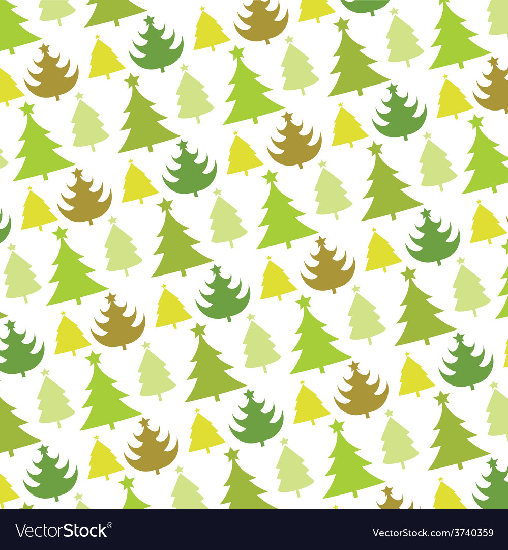 Christmas tree seamless pattern vector | Price: 1 Credit (USD $1)