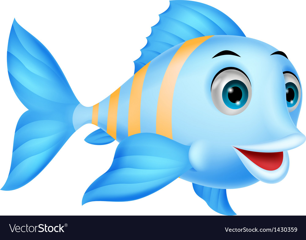 Cute fish cartoon vector | Price: 1 Credit (USD $1)