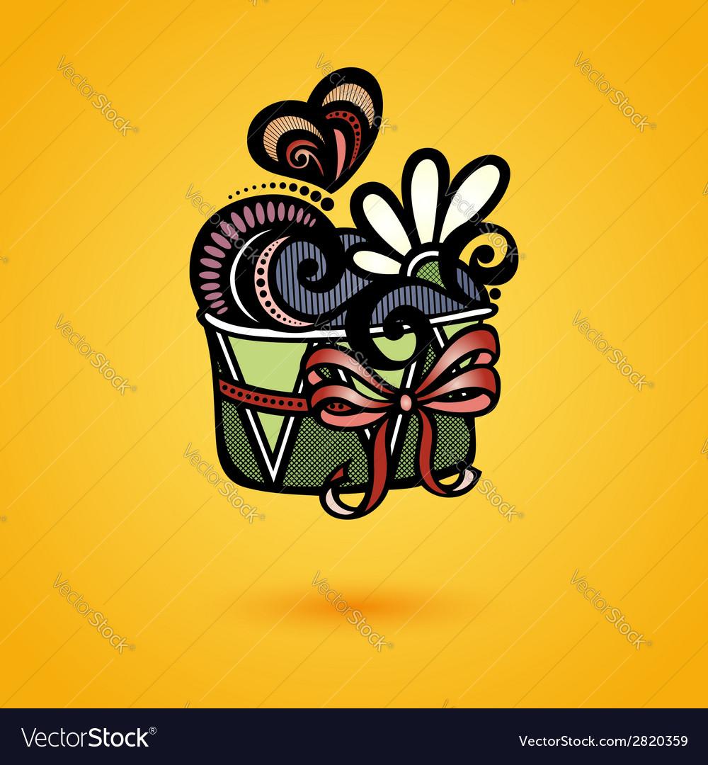 Decorative ornate cake vector | Price: 1 Credit (USD $1)