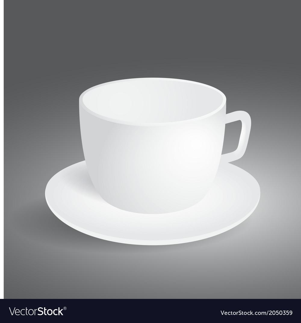 Empty cup on gray background vector | Price: 1 Credit (USD $1)