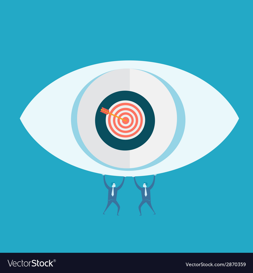 Eyes target and business man vector | Price: 1 Credit (USD $1)