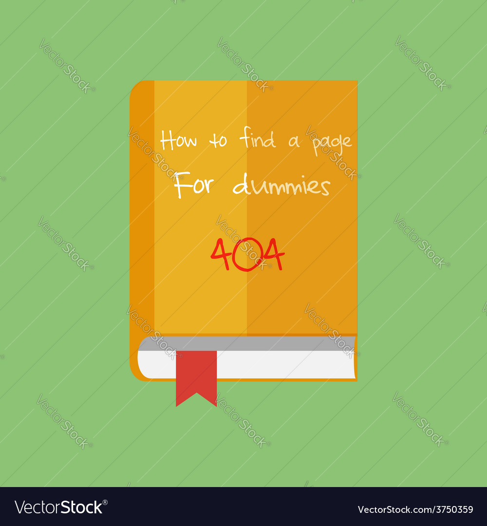 Flat book icon how to find a page in internet net vector | Price: 1 Credit (USD $1)