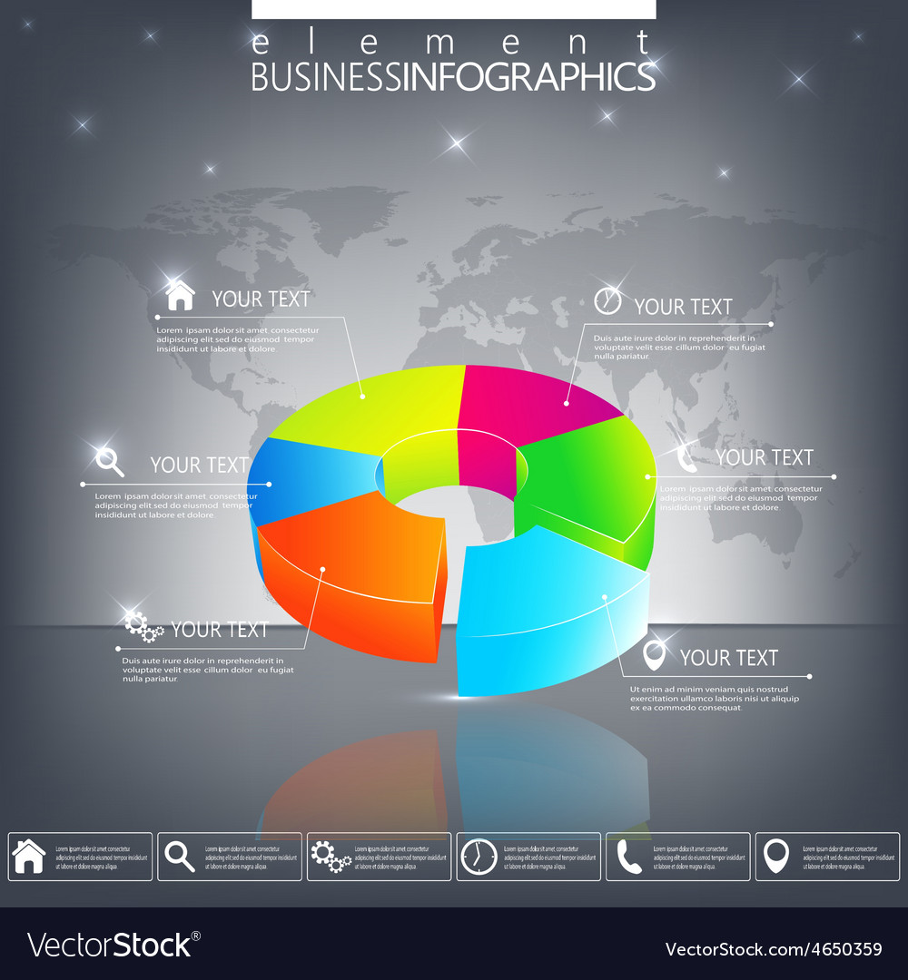 Modern 3d infographic template can be used for vector | Price: 1 Credit (USD $1)