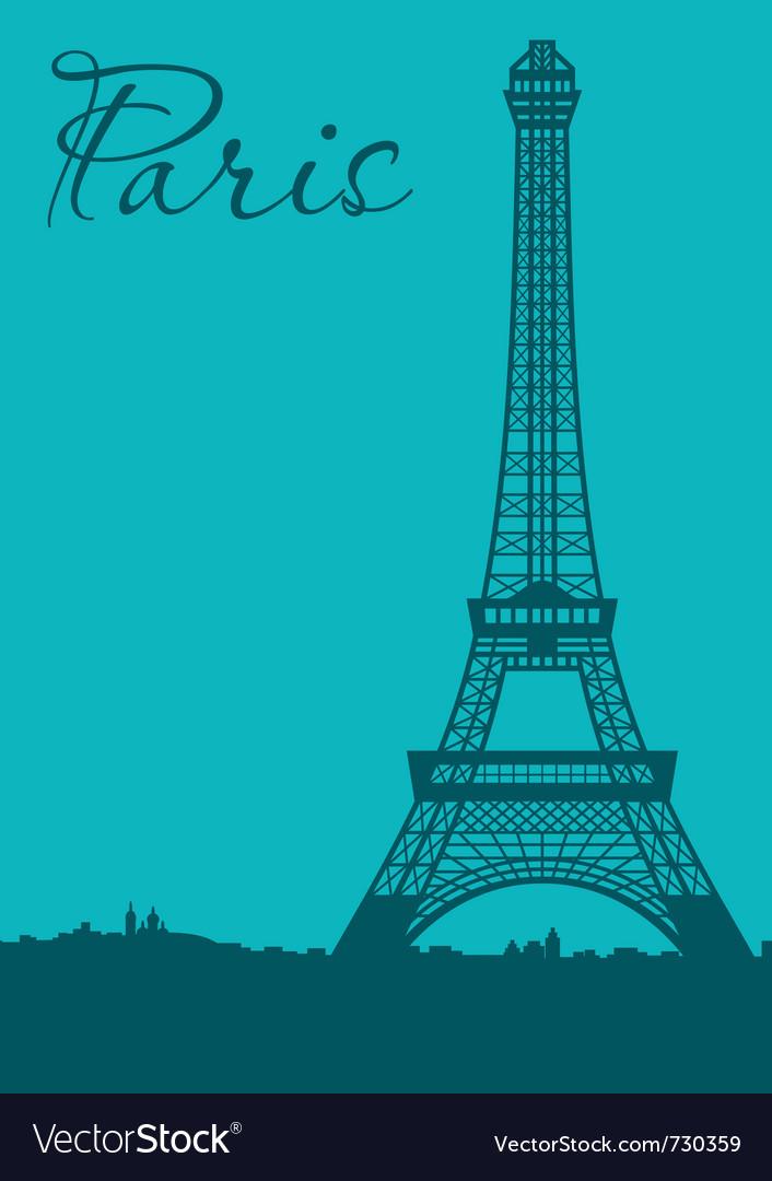 Paris card vector | Price: 1 Credit (USD $1)