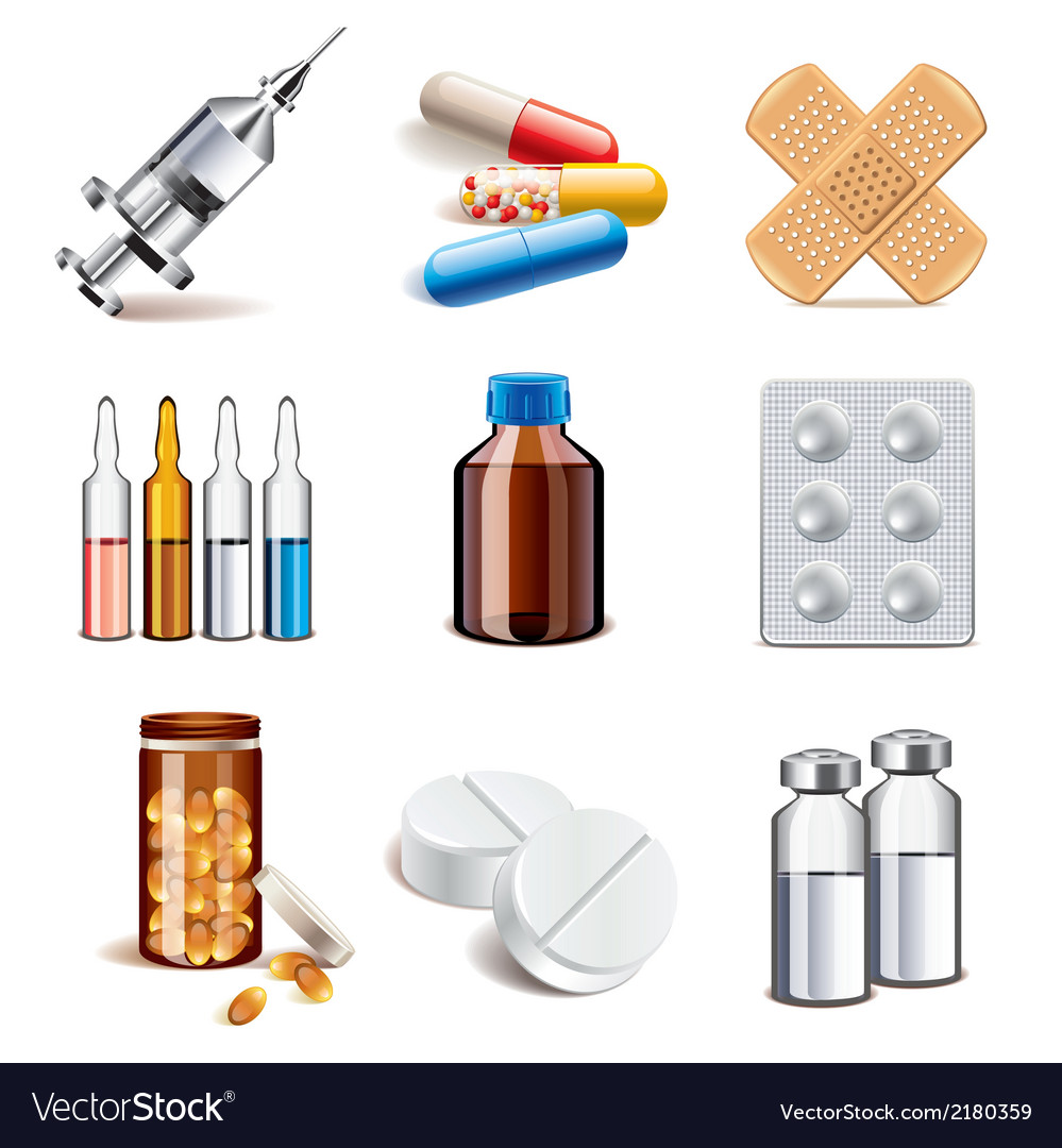 Set medicaments vector | Price: 1 Credit (USD $1)