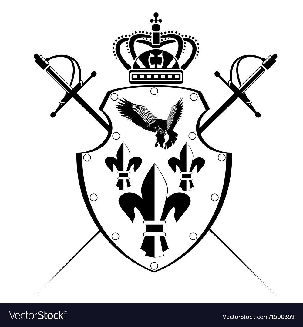 Shield and sword vector | Price: 1 Credit (USD $1)