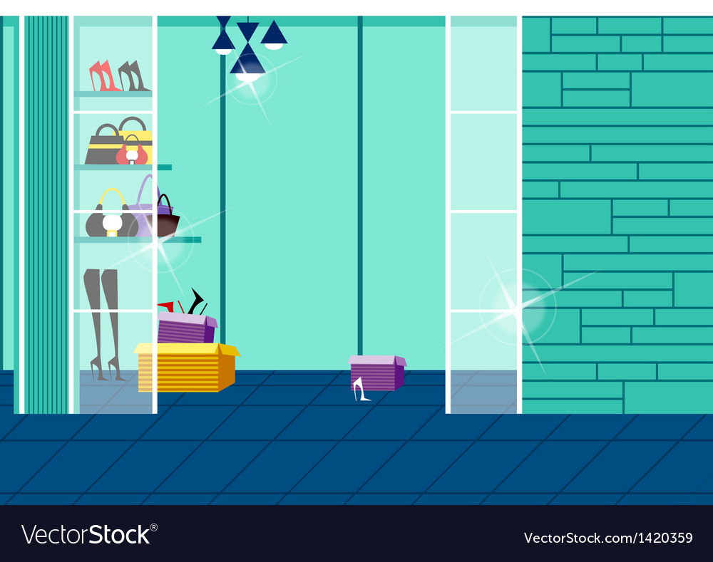 Wardrobe interior background vector | Price: 1 Credit (USD $1)