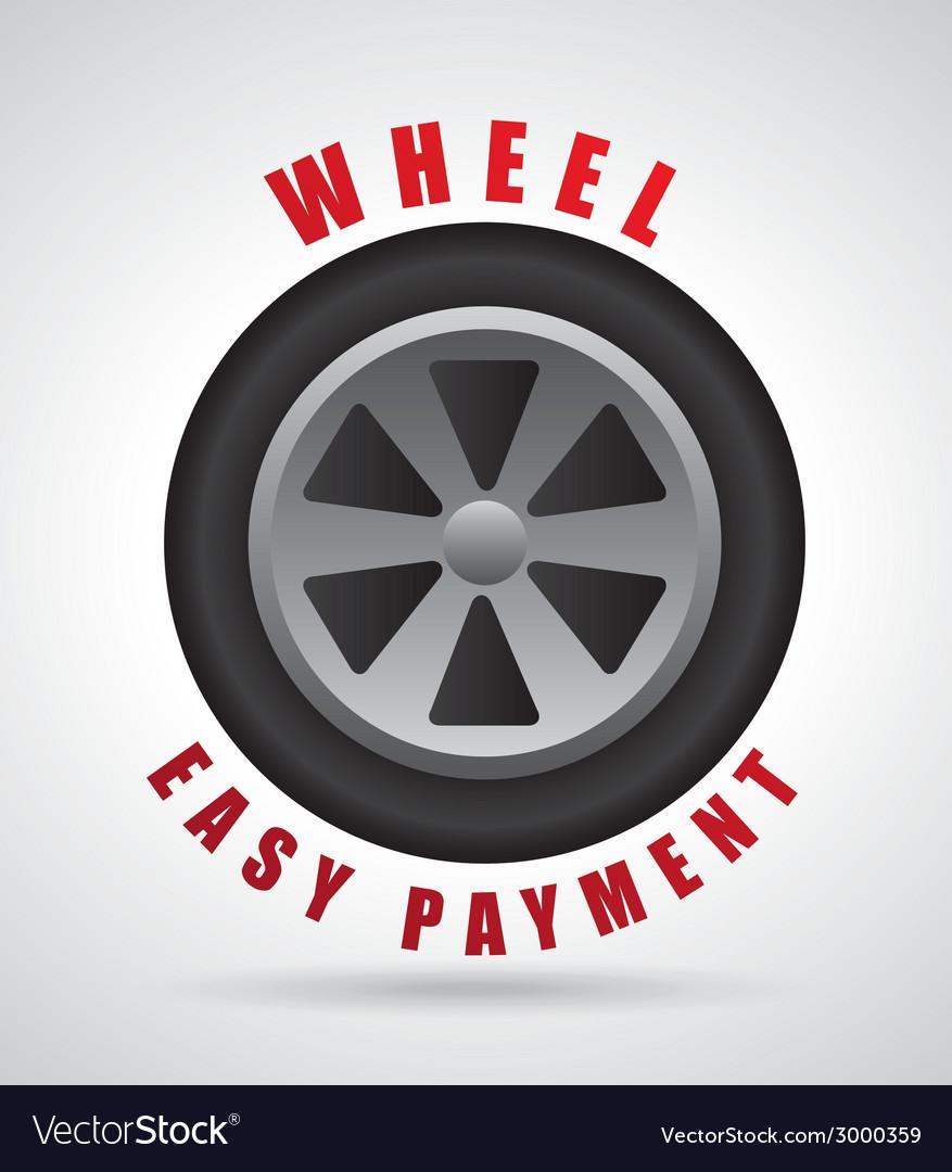 Wheel design vector | Price: 1 Credit (USD $1)