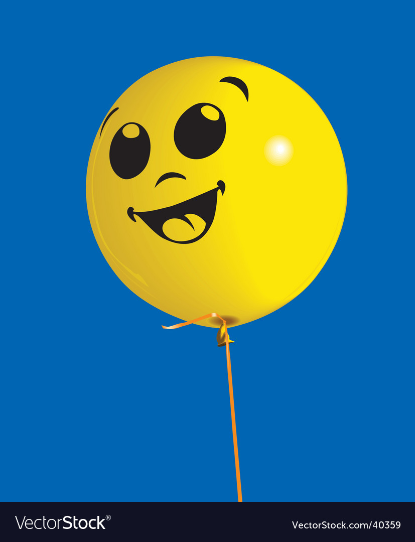 Yellow balloon vector | Price: 1 Credit (USD $1)