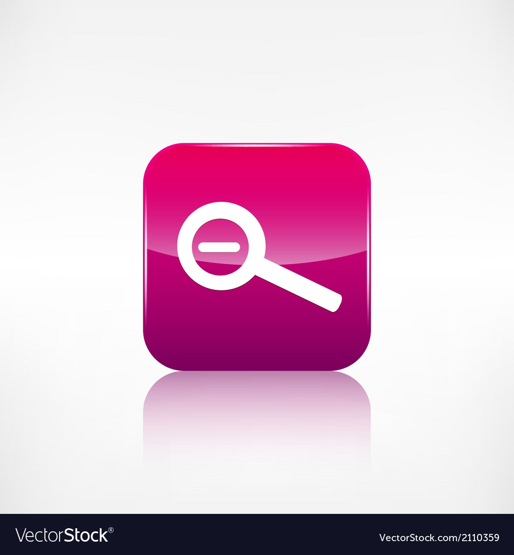 Zoom out icon search loupe vector | Price: 1 Credit (USD $1)