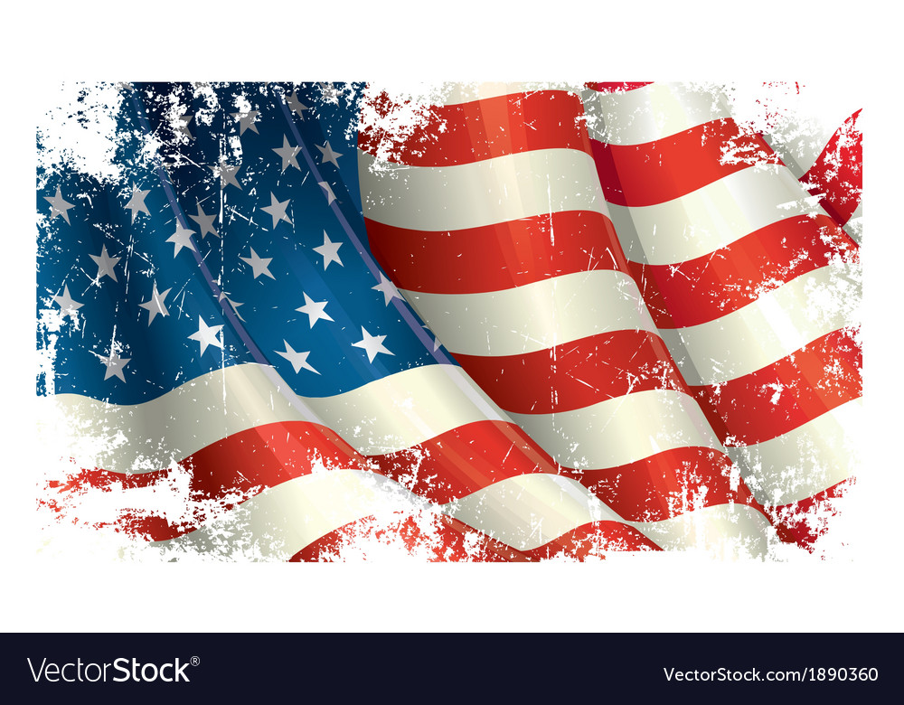 American flag grunge vector | Price: 1 Credit (USD $1)