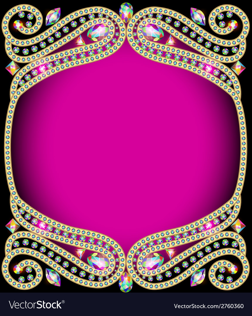 Background frame with gold vector | Price: 1 Credit (USD $1)