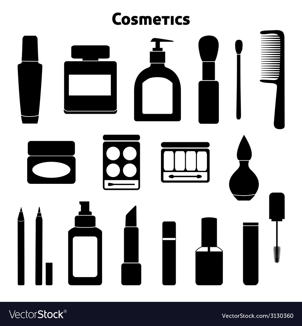 Cosmetic silhouettes set vector | Price: 1 Credit (USD $1)