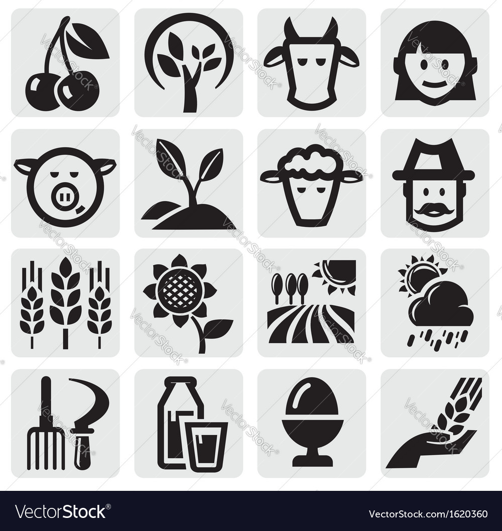 Farm set vector | Price: 1 Credit (USD $1)