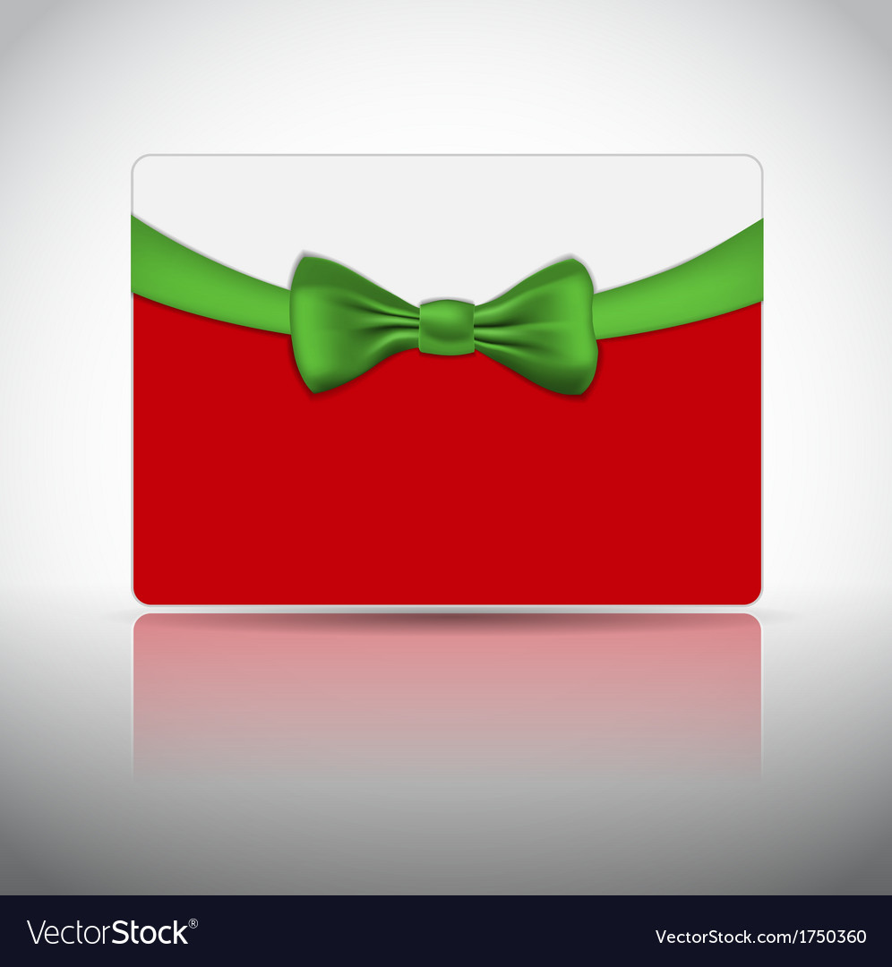 Gift card with ribbon and bow vector | Price: 1 Credit (USD $1)