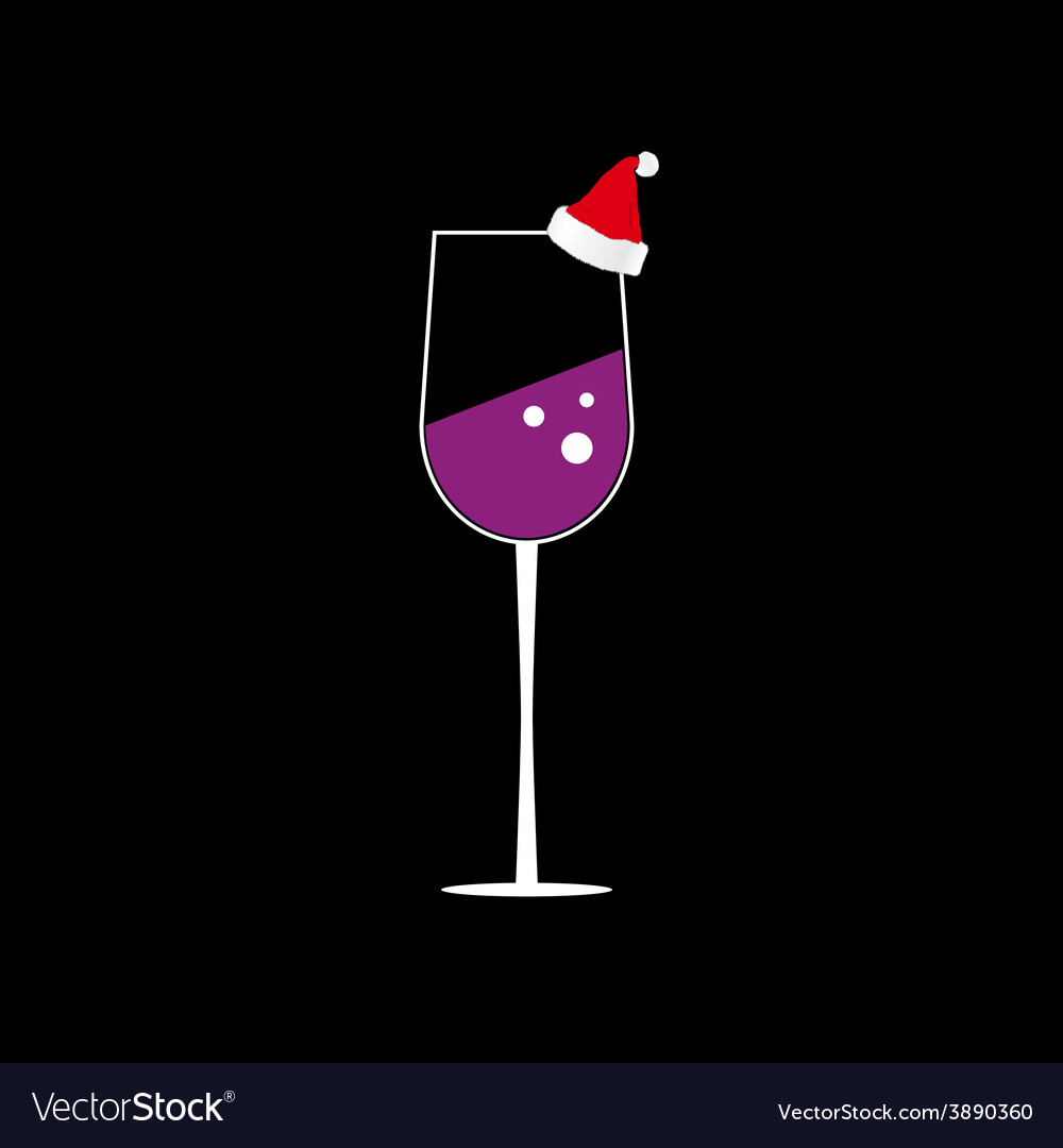 Glass of wine color vector | Price: 1 Credit (USD $1)