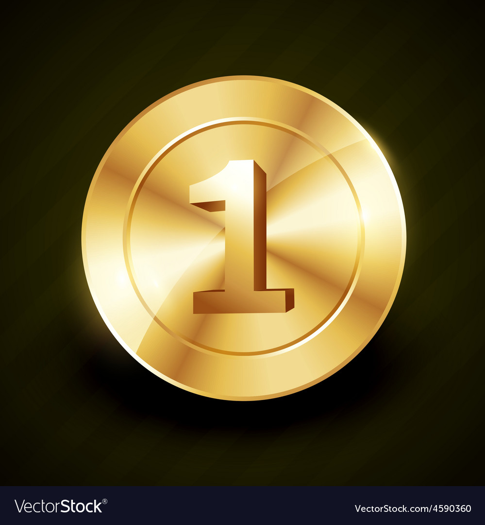 Golden no 1 label design vector | Price: 1 Credit (USD $1)