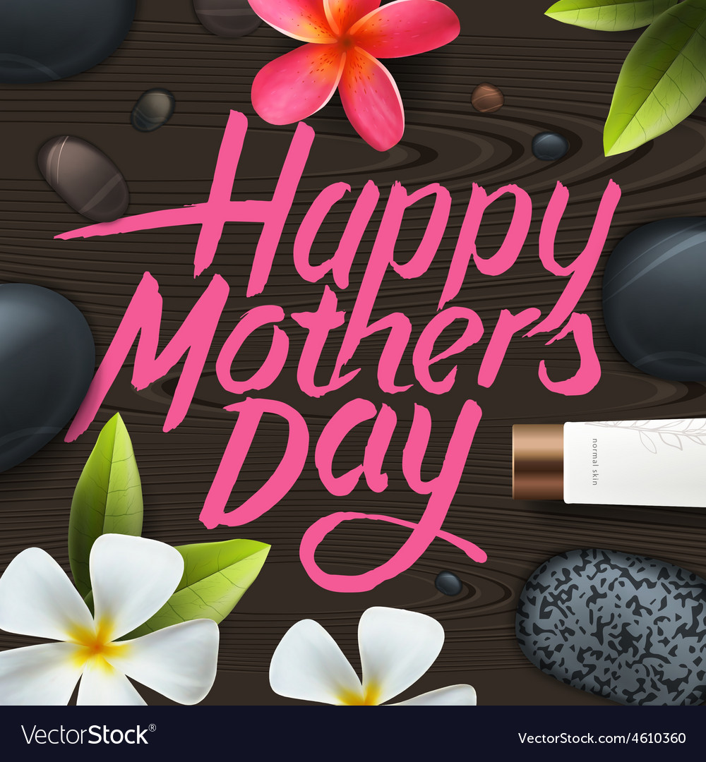 Happy mothers day spa therapy vector | Price: 1 Credit (USD $1)