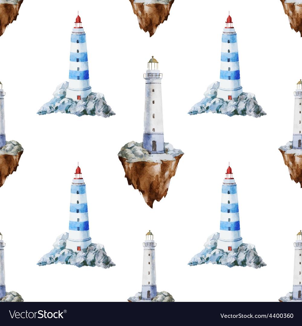 Lighthouse pattern vector
