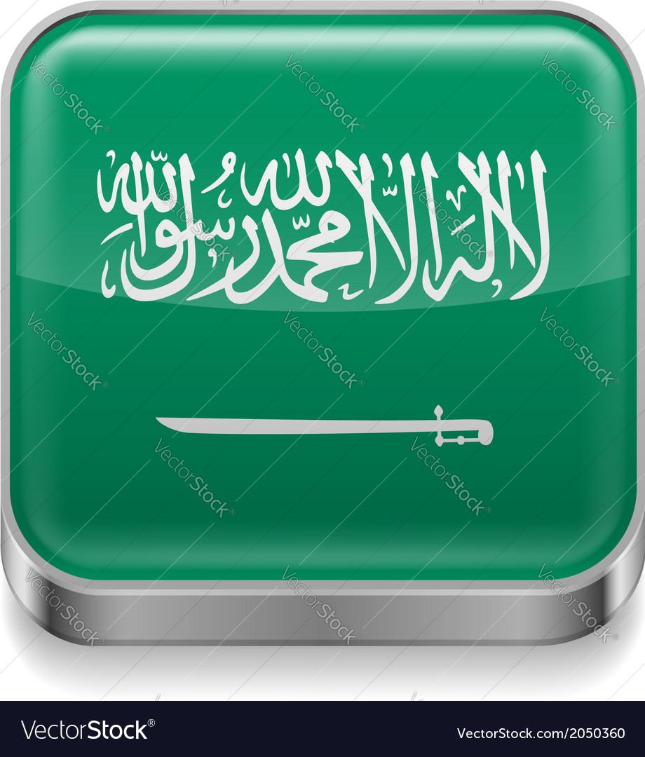 Metal icon of saudi arabia vector | Price: 1 Credit (USD $1)