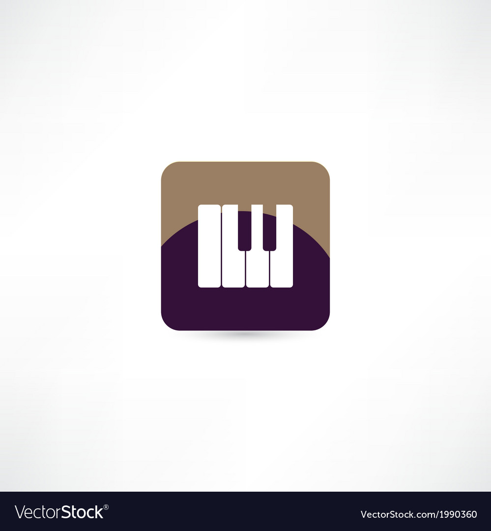 Piano keyboard icon vector | Price: 1 Credit (USD $1)