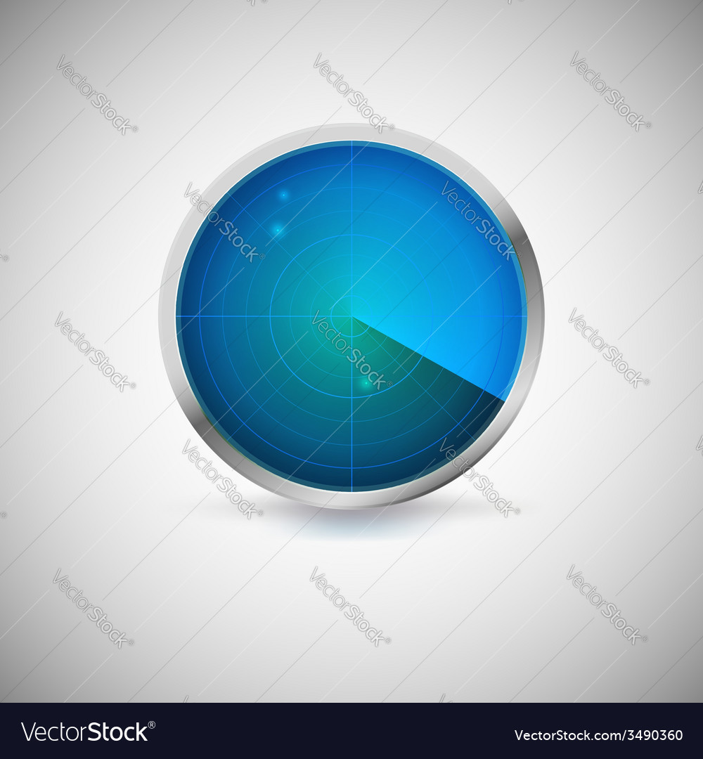 Radial screen of blue color with targets vector | Price: 1 Credit (USD $1)
