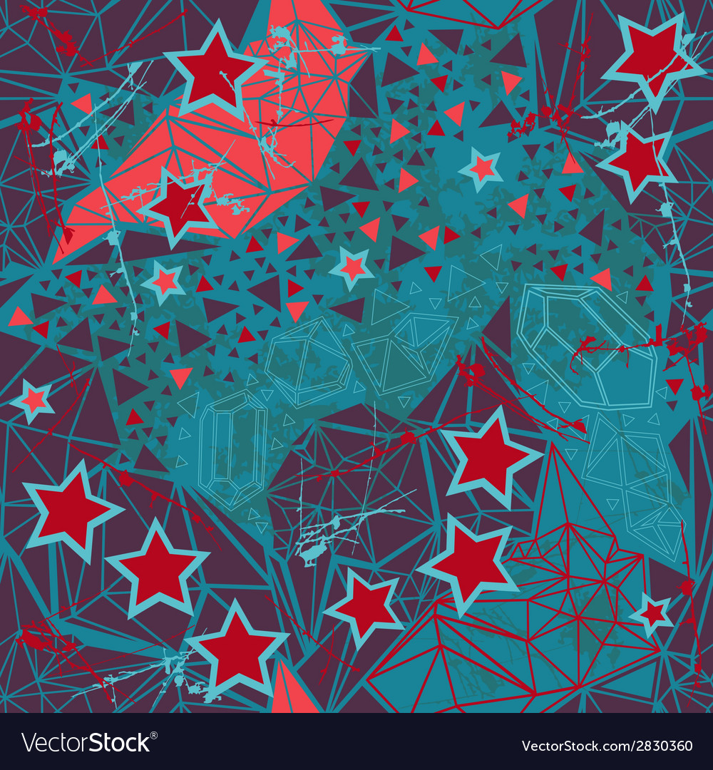 Retro geometric pattern on dark background vector | Price: 1 Credit (USD $1)