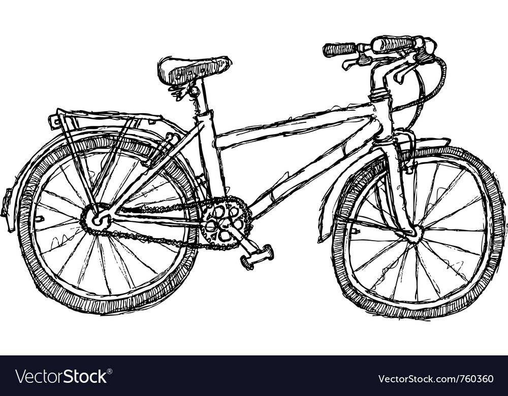 Scribble series - bicycle vector | Price: 1 Credit (USD $1)