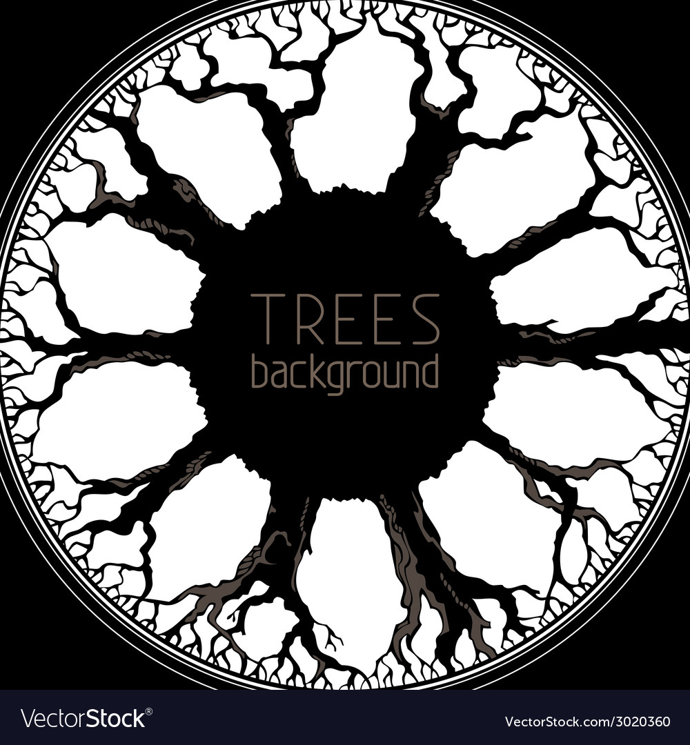 Trees background vector | Price: 1 Credit (USD $1)