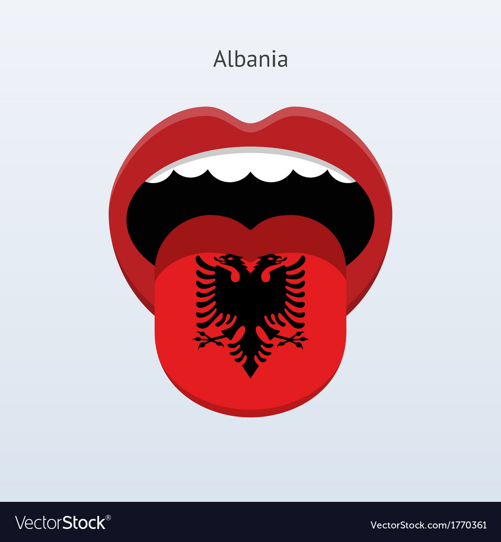 Albania language abstract human tongue vector | Price: 1 Credit (USD $1)