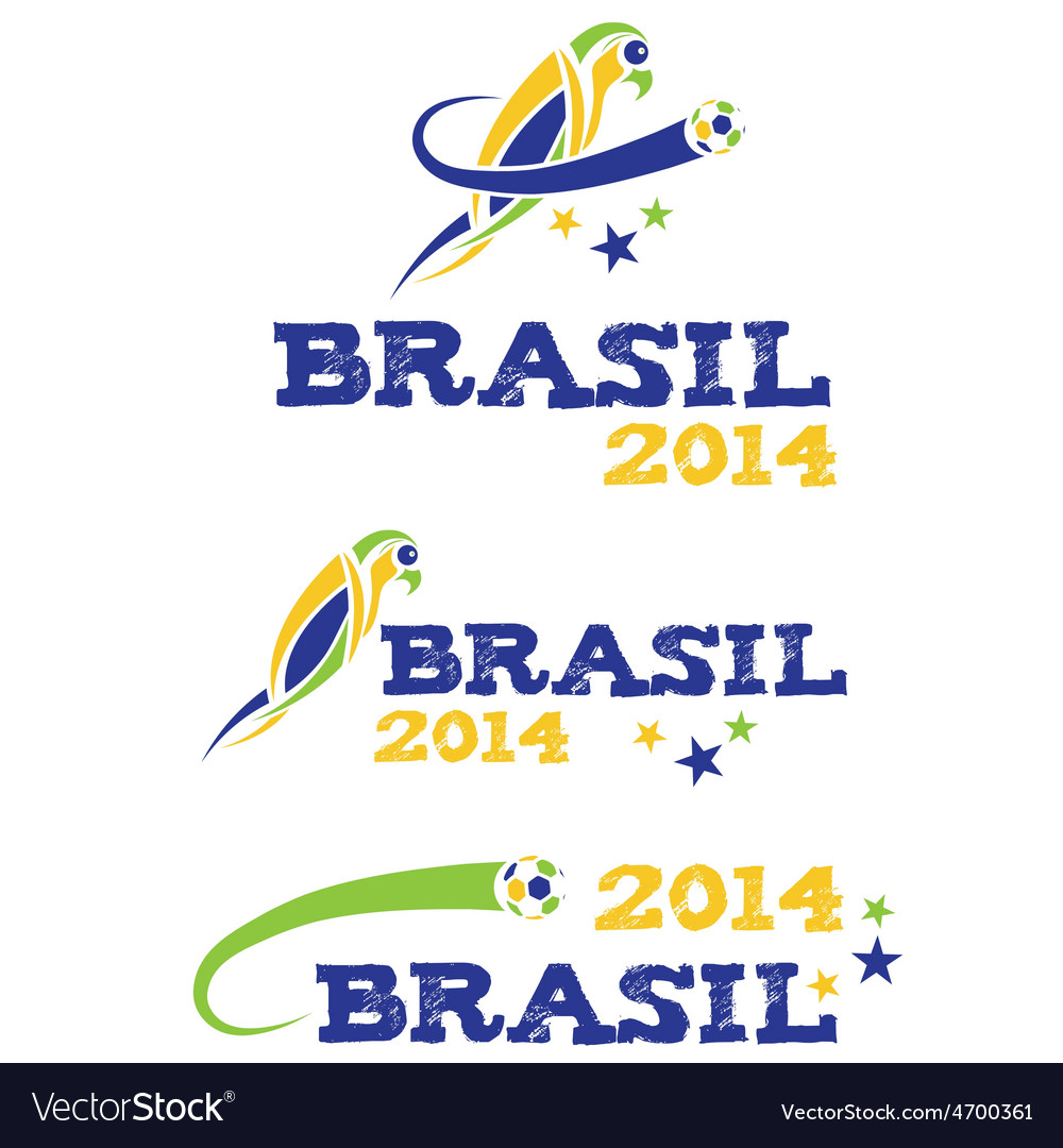 Brasil 2014 with parrot vector | Price: 1 Credit (USD $1)