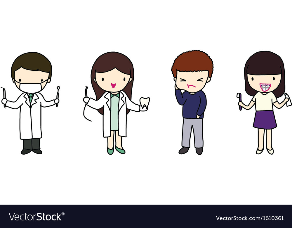 Dentists and patients vector   Price: 1 Credit (USD $1)