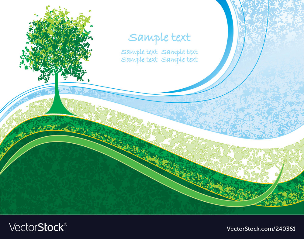 Eco landscape vector | Price: 1 Credit (USD $1)