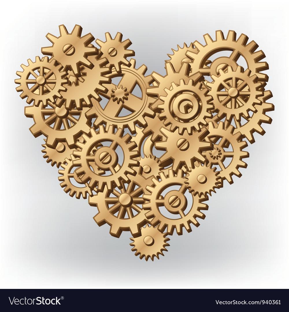 Mechanical heart symbol vector | Price: 1 Credit (USD $1)