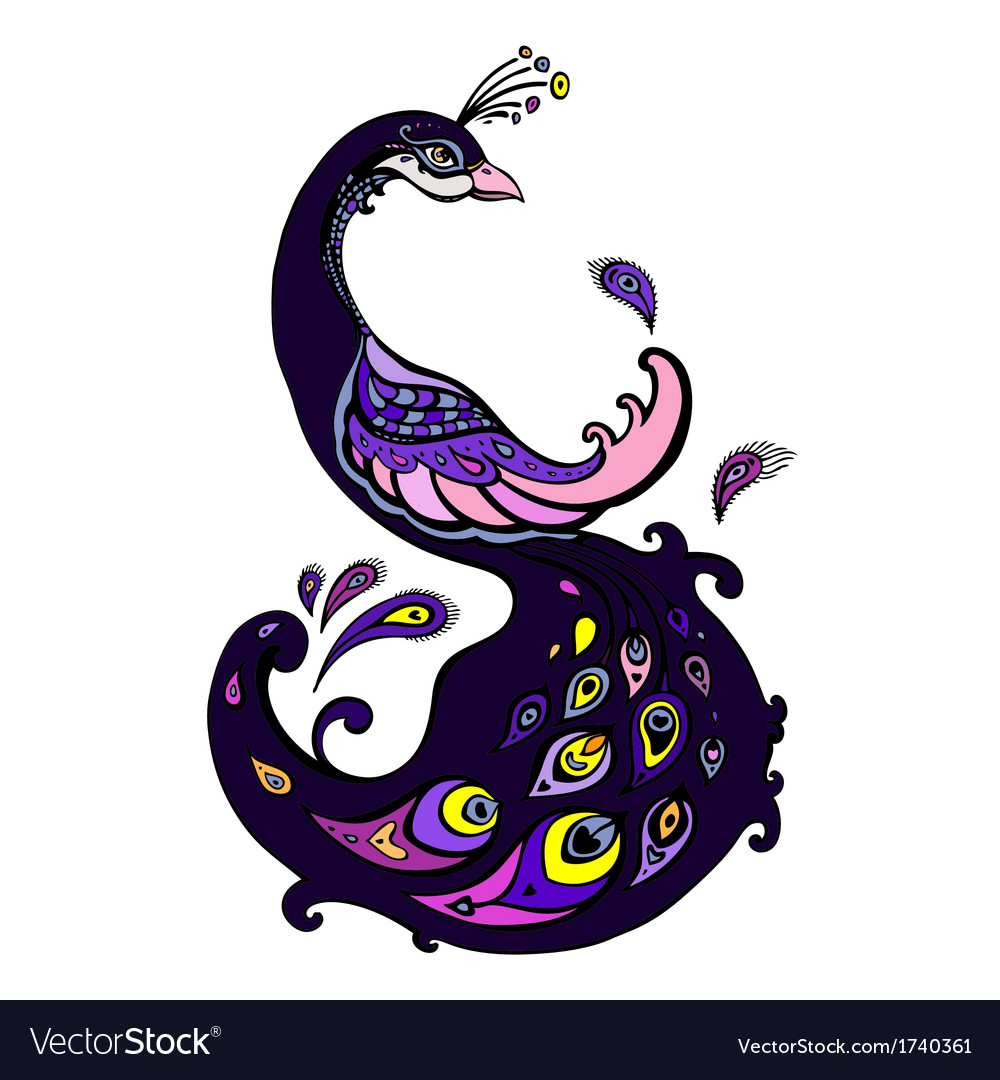 Peacock decorative vector | Price: 1 Credit (USD $1)