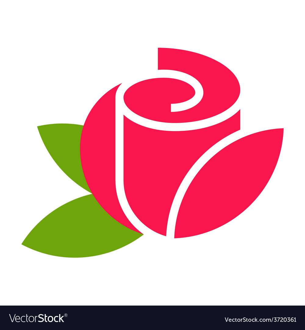 Rose - flower icon vector | Price: 1 Credit (USD $1)