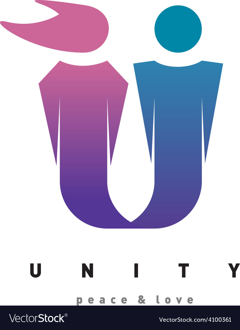 Unity people logo template man and woman figures vector | Price: 1 Credit (USD $1)