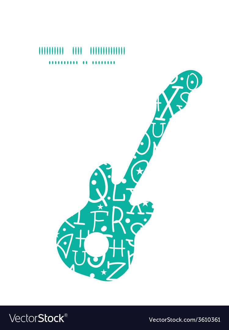 White on green alphabet letters guitar music vector | Price: 1 Credit (USD $1)