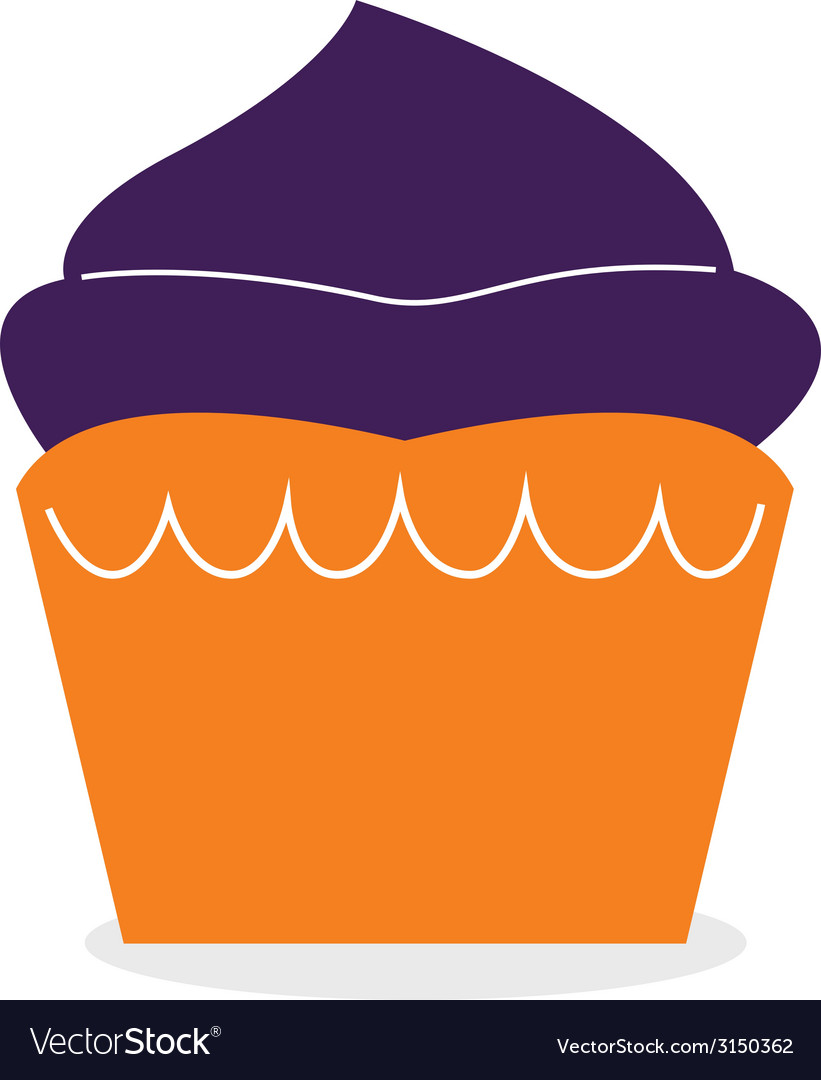 Beautiful cute double color muffin for halloween vector | Price: 1 Credit (USD $1)