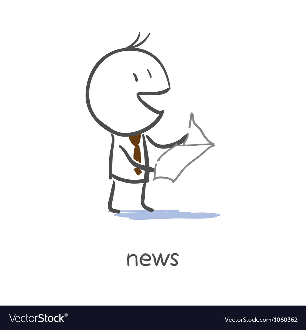 Businessman reading news vector | Price: 1 Credit (USD $1)