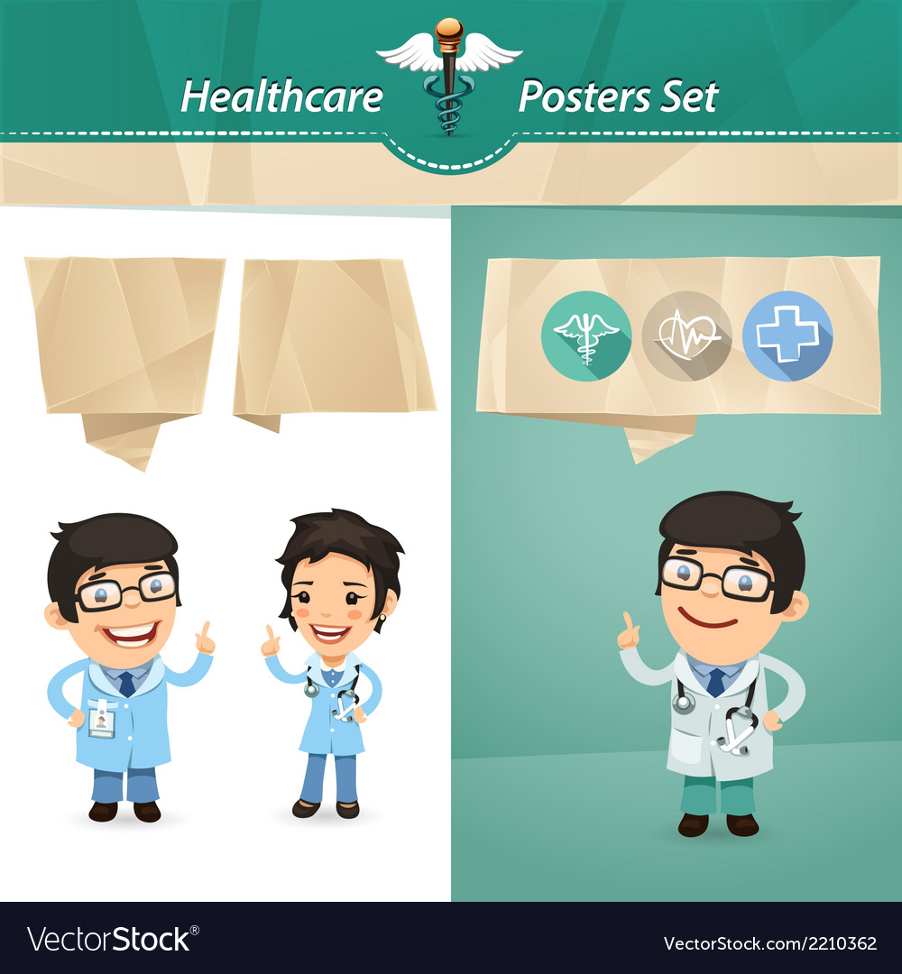 Doctors with speech bubbles vector | Price: 1 Credit (USD $1)
