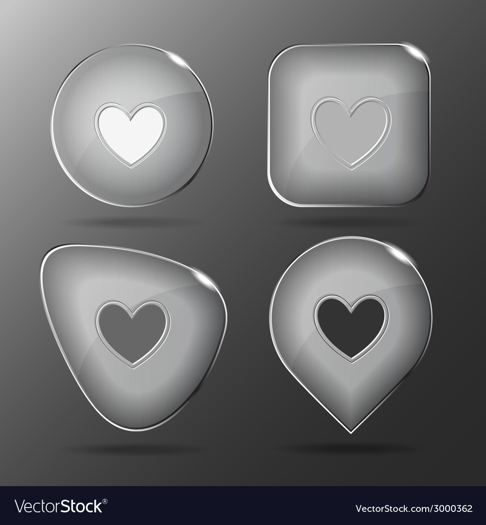 Heart glass buttons vector | Price: 1 Credit (USD $1)