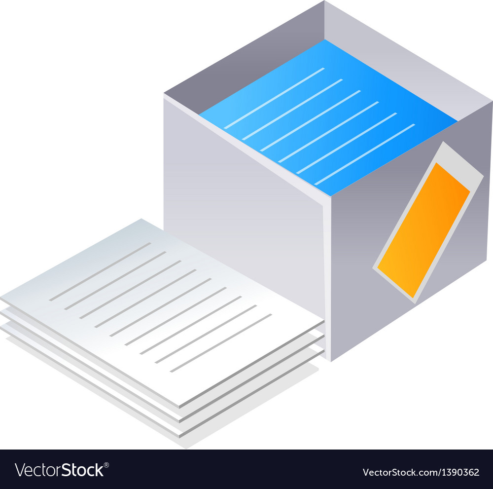 Icon paper and box vector | Price: 1 Credit (USD $1)