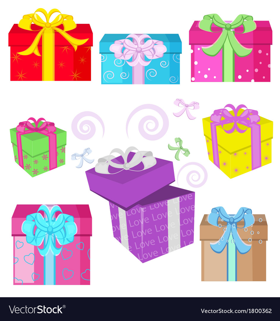 Interesting gifts vector | Price: 1 Credit (USD $1)
