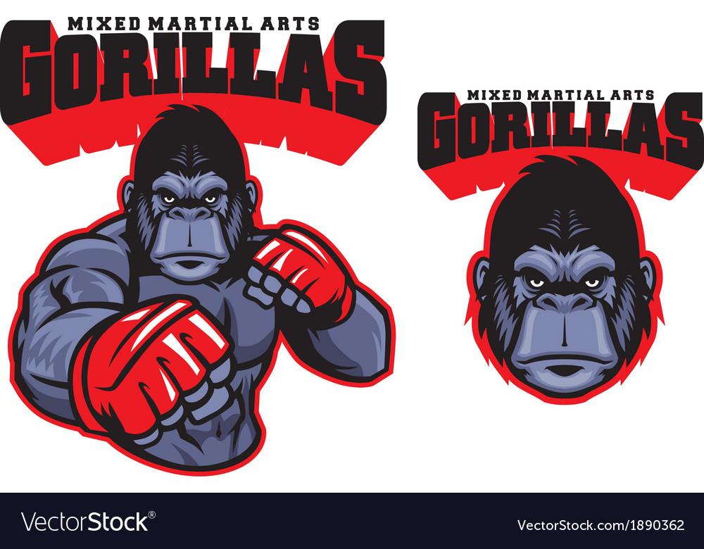 Mma fighter gorilla vector | Price: 3 Credit (USD $3)