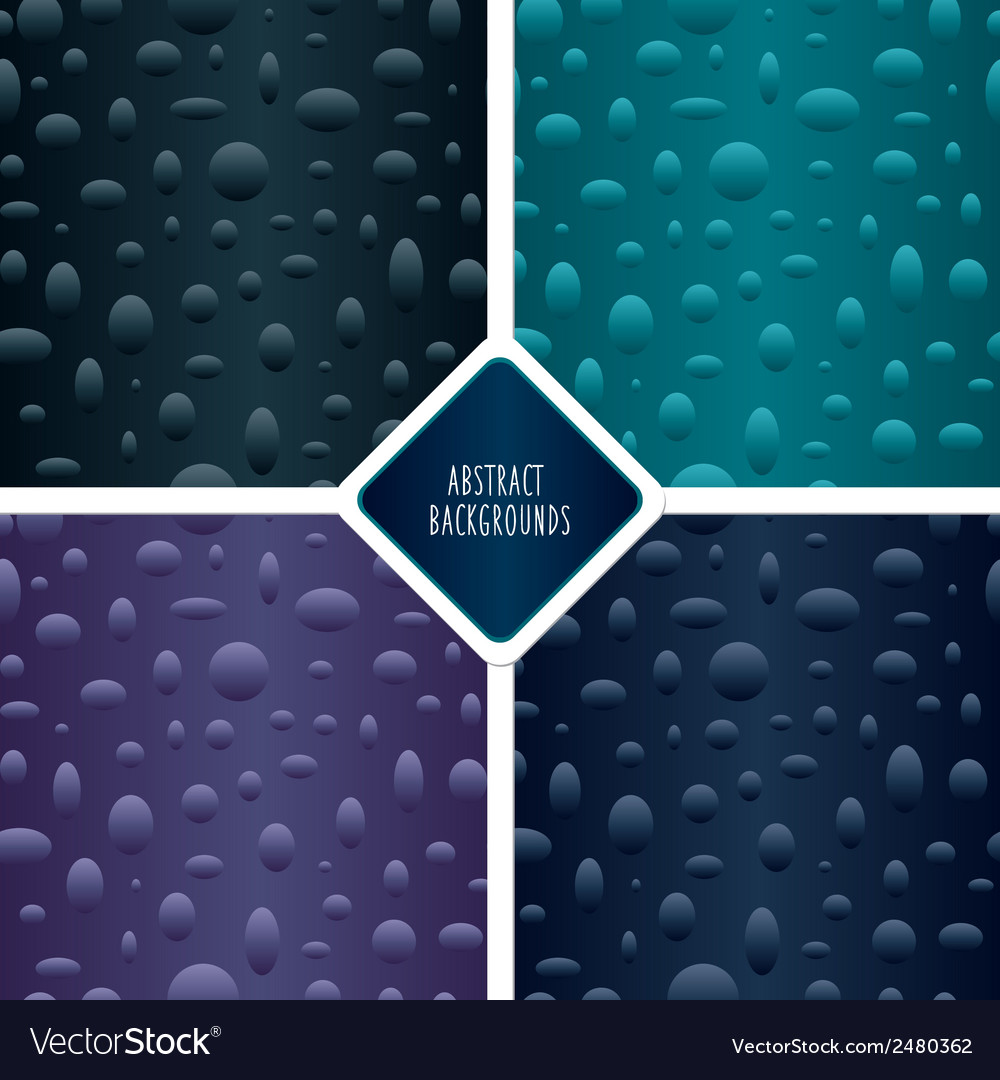 Seamless patterns set with particles vector | Price: 1 Credit (USD $1)