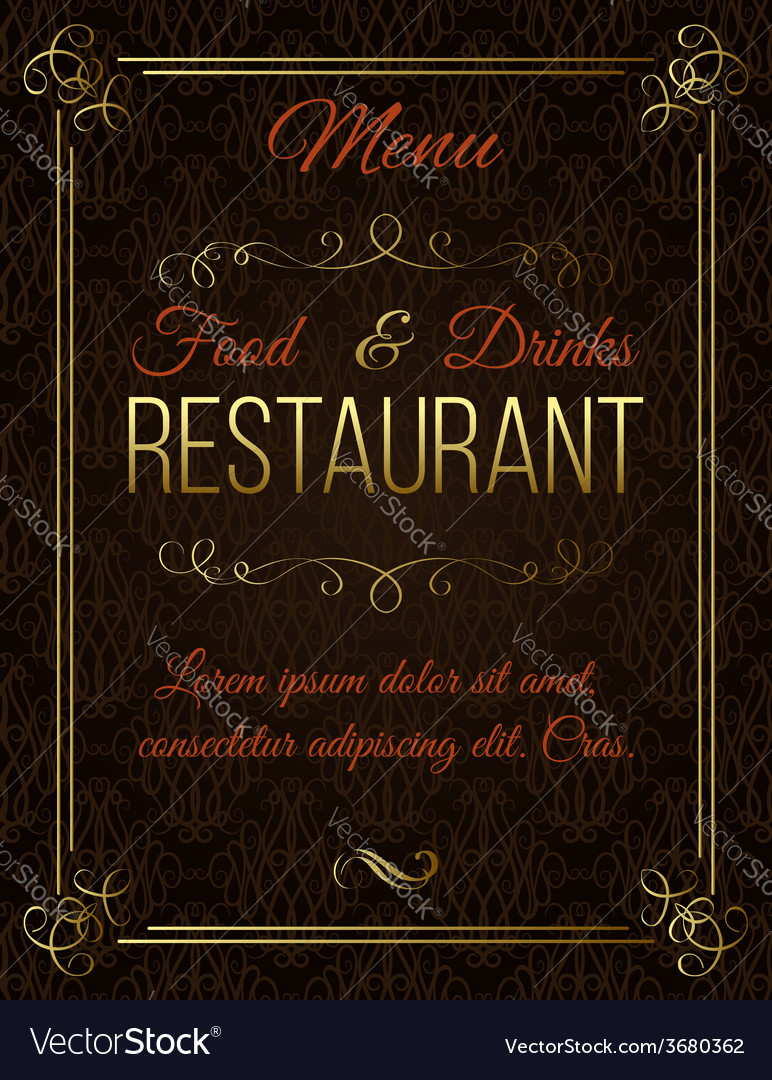 Template with gold calligraphic elements vector | Price: 1 Credit (USD $1)