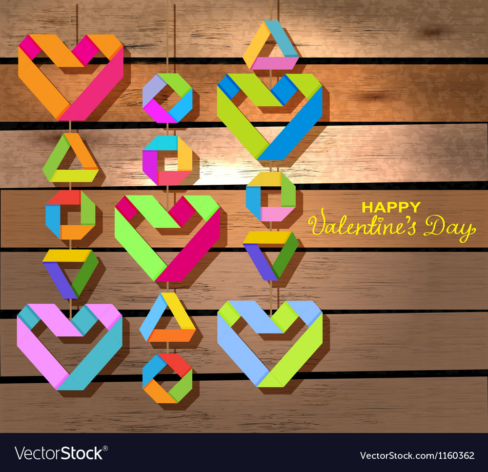 Valentine decor over wood vector | Price: 1 Credit (USD $1)