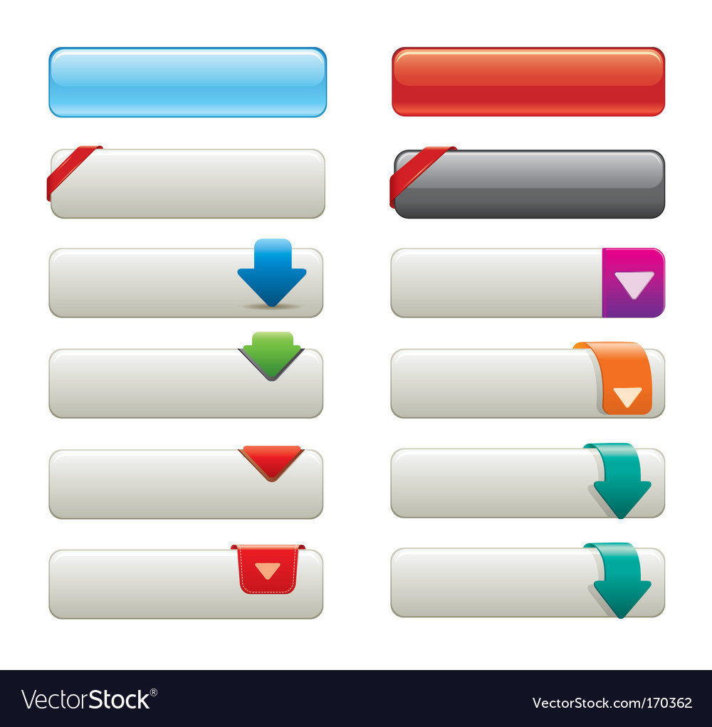 Websiye buttons vector | Price: 1 Credit (USD $1)