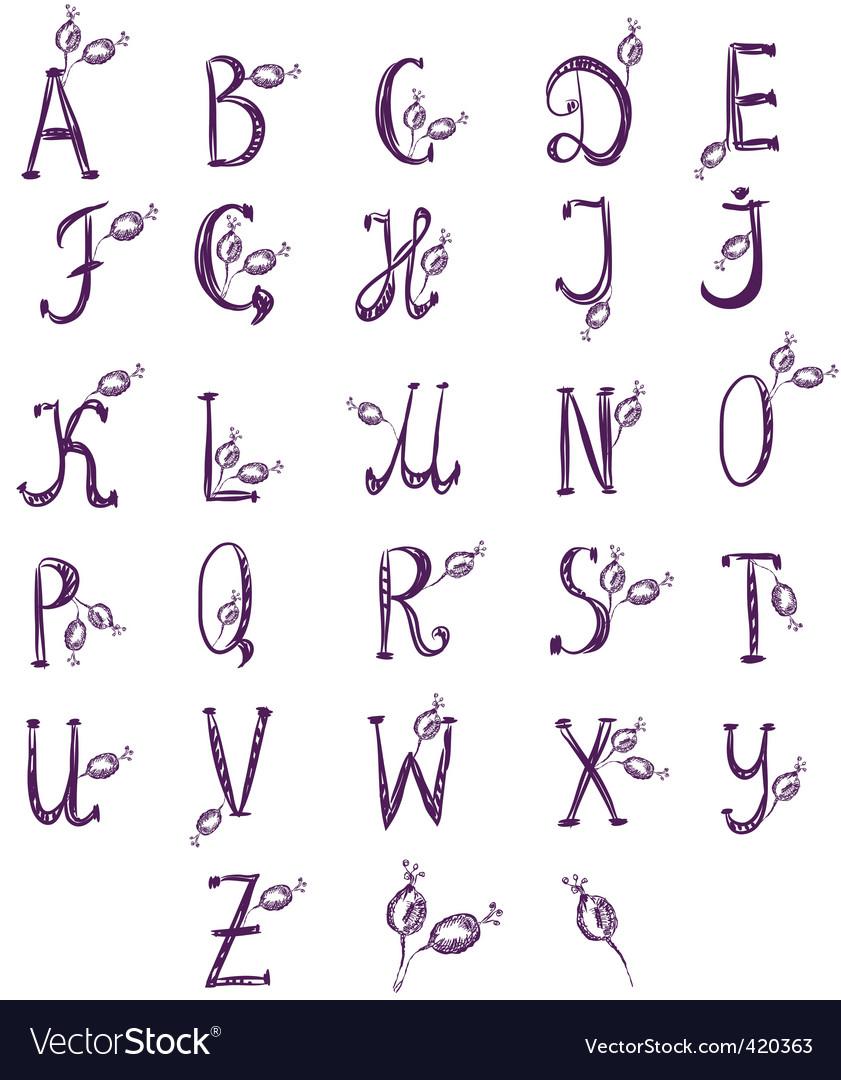 Alphabet berries vector | Price: 1 Credit (USD $1)